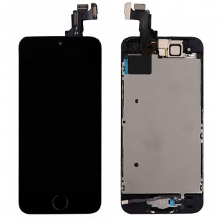 All in One Display LCD Komplett Ersatz Touch kompatibel Apple iPhone 5S Schwarz