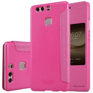 Premium Nillkin Smartcover Pink für Huawei P9 Plus Tasche Hülle Case Schutz Neu
