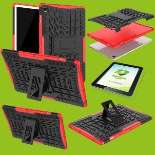 Für Samsung Galaxy Tab S5e 10.5 T720F Hybrid Etuis Rot Hülle Tasche + H9 Glas