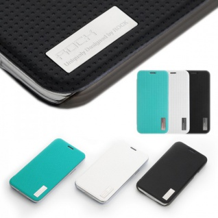 Original ROCK Smartcover Blau für Samsung Galaxy S5 Mini G800 F A H Case Hülle - Vorschau 2