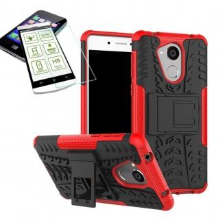 Hybrid Case Tasche Outdoor 2teilig Rot für Huawei Honor 6C Hülle Hartglas Neu