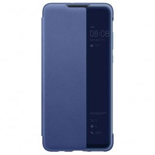 Smart View Flip Cover Blau für Huawei P30 Lite 51993076 Case Tasche Etui Schale