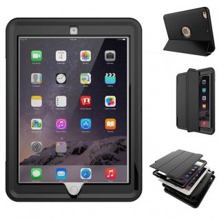 Hybrid Outdoor Schutzhülle Cover Schwarz für Apple iPad Air 2 Tasche Case
