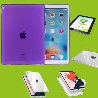 Für Apple iPad Pro 11.0 Zoll 2018 Lila Hülle Tasche Cover + H9 Hart Glas Case