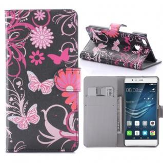 Schutzhülle Muster 4 für Huawei P9 Lite Bookcover Tasche Case Hülle Wallet Etui
