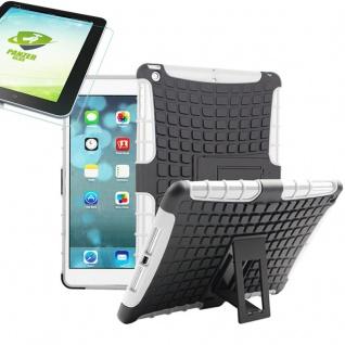 Für Apple iPad 9.7 2018 Hybrid Outdoor Schutzhülle Weiß Tasche 0.4 H9 Glas Hülle