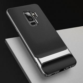 Original ROCK Silikon Case Tasche Schwarz / Grau für Samsung Galaxy S9 Plus Neu