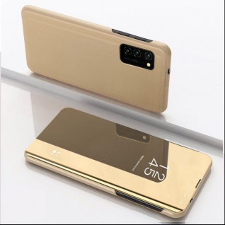 Für Samsung Galaxy S20 FE View Smart Cover Gold Handy Tasche Cover Etuis Wake UP