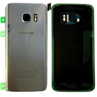 Samsung GH82-11346B Akkudeckel für Galaxy S7 Edge G935F + Klebepad Silber Neu