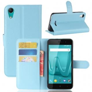 Tasche Wallet Premium Blau für Wiko Lenny 4 Hülle Case Cover Etui Schutz Neu Top