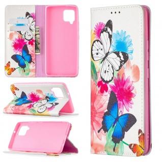 Für Samsung Galaxy A42 5G A426B Kunst-Leder Handy Tasche Motiv 11 Hülle Case Neu