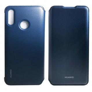 Huawei Wallet Flip Cover Blau für P Smart 2019 Tasche Schutzhülle Hülle Etuis