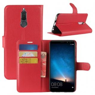 Tasche Wallet Premium Rot für Huawei Mate 10 Lite Hülle Case Cover Etui Schutz
