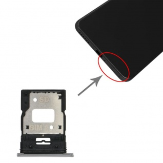 Dual Sim Card Micro SD Tray für Xiaomi Mi 11 Lite Silber Karten Halter