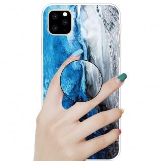 Schutzhülle Cover für Apple iPhone 11 Dark Blue 3D Marble Silikon Tasche Etui