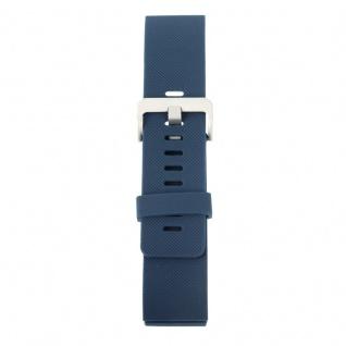Kunststoff / Silikon Uhr Armband für Fitbit Blaze Watch Dunkel Blau 17-20 cm - Vorschau 3
