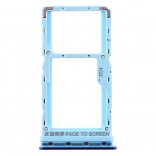 Sim Card Tray für Xiaomi Mi A3 Blau Karten Halter Schlitten Ersatzteil Holder