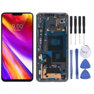 Für LG G7 ThinQ Display Full LCD Touch mit Rahmen Reparatur Schwarz Ersatz Neu