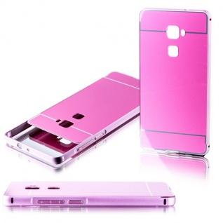 Alu Bumper 2 teilig mit Abdeckung Rosa für Huawei Mate S 5.5 Tasche Hülle Case