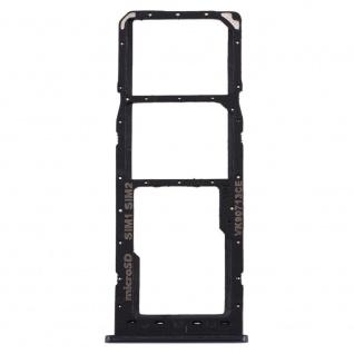 Dual Sim Karten Halter für Samsung Galaxy A10 Schwarz Card Tray Micro SD Ersatz