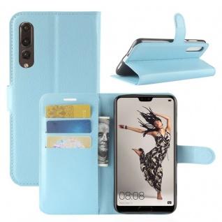 Tasche Wallet Premium Blau für Huawei P20 Pro Hülle Case Cover Schutz Schale Neu