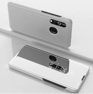 Für Samsung Galaxy A20e Clear View Smart Cover Silber Etuis Tasche Hülle Wake UP