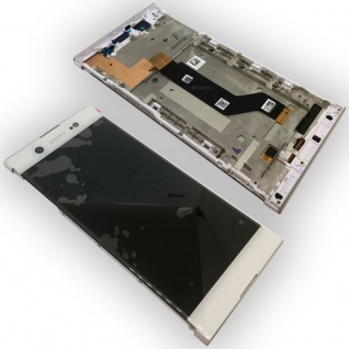 Sony Display LCD Komplett mit Rahmen für Xperia XA1 Ultra G3212 Weiß Ersatz Neu