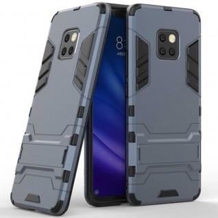 Für Huawei Mate 20 Pro Metal Style Outdoor Blau Tasche Hülle Cover Schutz Etui