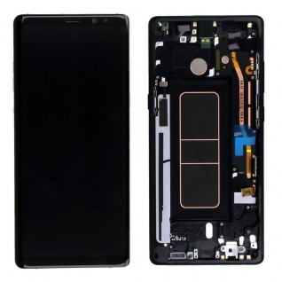 Display Full LCD Komplettset GH97-21065A Schwarz für Samsung Galaxy Note 8 N950F