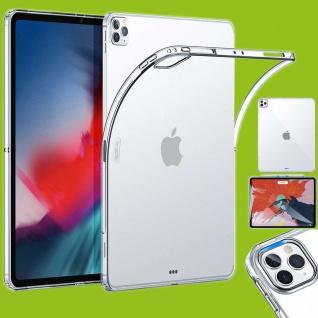 Für Apple iPad Pro 12.9 2020 / 2021 Transparent Tablet Tasche Hülle TPU Silikon dünn