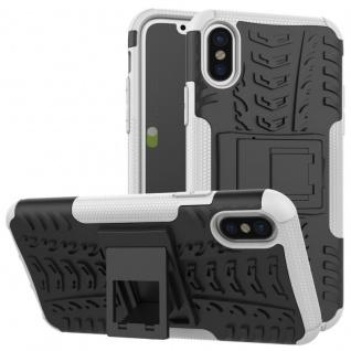 New Hybrid Case 2teilig Outdoor Weiß für Apple iPhone X 5.8 Zoll Tasche Hülle