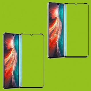 Für Huawei P30 2x 4D Full Curved Tempered Hart Glas Folie 0, 3 mm H9 Schwarz Neu