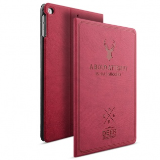 Design Tasche Backcase Smartcover Pink für Apple iPad Mini 4 7.9 Hülle Case Neu