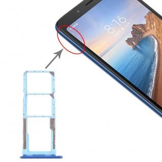 Sim Card Tray für Xiaomi Redmi 7A Blau Karten Halter Schlitten Holder Ersatzteil