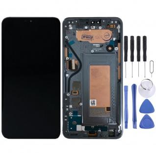 Für LG V40 ThinQ Display Full LCD Touch mit Rahmen Reparatur Ersatz Einheit Grau