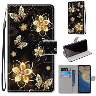 Für ZTE Blade A51 Kunst-Leder Handy Tasche Motiv 1 Hülle Etuis Case Cover Schutz