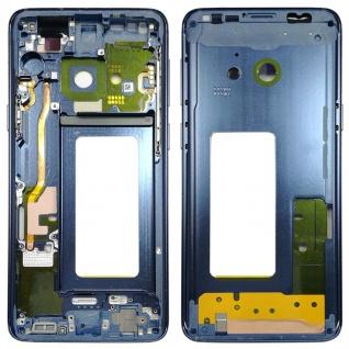 Mittelrahmen Rahmen Kamera Glas Gehäuse für Samsung Galaxy S9 G960 G960F Blau