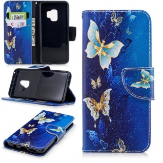 Tasche Wallet Book Cover Motiv 26 für Samsung Galaxy S9 Plus G965F Hülle Case