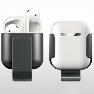 Gürtelhalter Tasche für Apple AirPods Schwarz Schutz Etui Tasche Halter Zubehör
