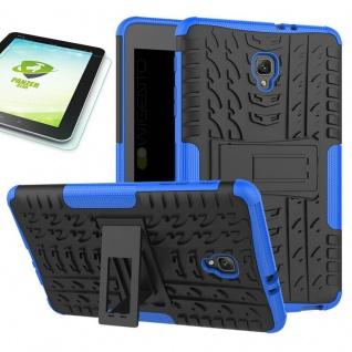 Hybrid Outdoor Tasche Blau für Samsung Galaxy Tab A 8.0 2017 T385 + 0.4 H9 Glas