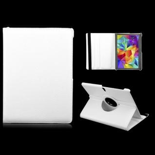 Schutzhülle 360 Grad Weiss Tasche für Samsung Galaxy Tab S 10.5 T800 Zubehör Neu