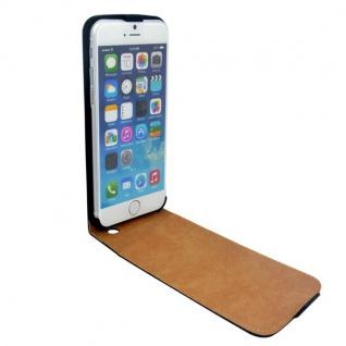 Fliptasche Deluxe Schwarz für Apple iPhone 6 Plus 5.5 Tasche Hülle Zubehör Kappe - Vorschau 2