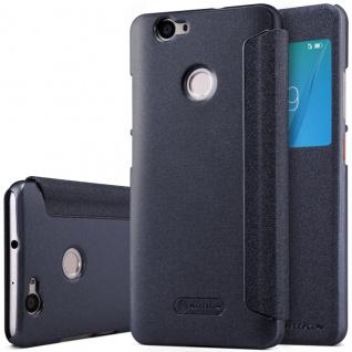 Premium Nillkin Smartcover Schwarz für Huawei Nova Tasche Hülle Case Schutz Neu