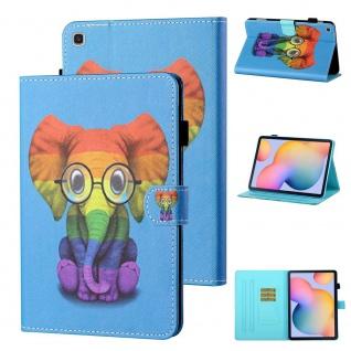 Für Samsung Galaxy Tab S6 Lite P610 Motiv 82 Tablet Tasche Kunst Leder Etuis Neu
