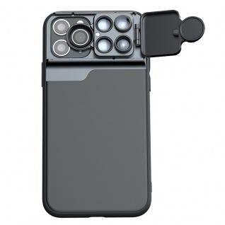 Schutzhülle für Apple iPhone 11 Pro Max Schwarz + Weitwinkel Teleskop Fisheye