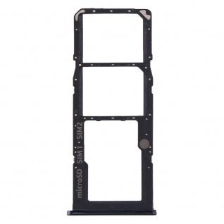 Sim Karten Halter für Samsung Galaxy A51 A71 Schwarz Card Tray Ersatzteil