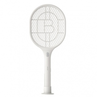 Elektrische Fliegen Klatsche Weiß Anti Mücken LED Lampe USB Anschluss Zubehör