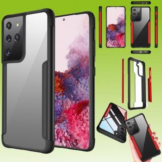 Für Samsung Galaxy S21 Ultra Hybrid Iron Man Schwarz Handy Tasche Etuis Hülle