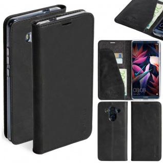Ledertasche Sunne 4 Card für Huawei Mate Pro Ledertasche Tasche Hülle Etui Black