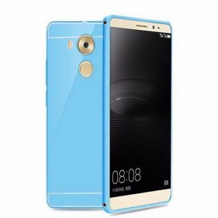 Alu Bumper 2 teilig mit Abdeckung Blau für Huawei Mate 8 Tasche Hülle Cover Case